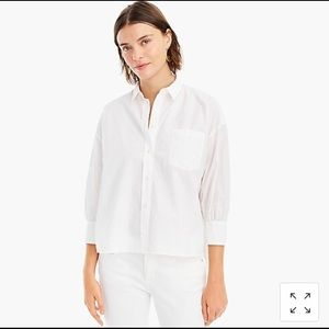 JCrew Oversized white button up